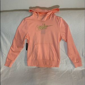 Pink Nike hoodie with gold  - READ DESCRIPTION